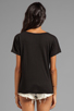 Image 2 of AG Adriano Goldschmied V-Neck Pocket Tee in Black