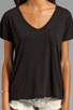 Image 3 of AG Adriano Goldschmied V-Neck Pocket Tee in Black