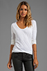 Image 1 of AG Adriano Goldschmied Scoop Tee in White