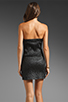 Image 5 of AGAIN Dixieland Textured Asymmetrical Tube Dress in Black