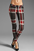 Image 1 of AGAIN Harding Stretch Lowrise Skinny Pant in Red Flannel