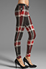 Image 2 of AGAIN Harding Stretch Lowrise Skinny Pant in Red Flannel
