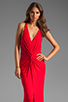 Image 1 of Akiko Rouched Front Maxi Dress in Scarlet