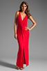 Image 2 of Akiko Rouched Front Maxi Dress in Scarlet