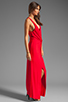 Image 3 of Akiko Rouched Front Maxi Dress in Scarlet