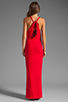 Image 4 of Akiko Rouched Front Maxi Dress in Scarlet