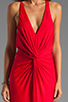 Image 5 of Akiko Rouched Front Maxi Dress in Scarlet