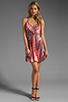 Image 2 of Akiko Tank Wrap Dress in Tropic Print