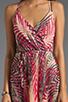 Image 5 of Akiko Tank Wrap Dress in Tropic Print