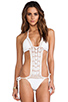 Image 1 of Anna Kosturova Filigree Maillot in White
