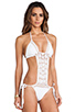 Image 2 of Anna Kosturova Filigree Maillot in White