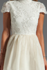 Image 5 of Alice + Olivia Fyona Lace Bodice Party Dress in Off White