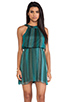 Image 1 of Alice + Olivia Jae Closed Back Dress in Teal