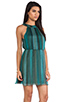 Image 2 of Alice + Olivia Jae Closed Back Dress in Teal