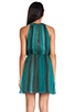 Image 3 of Alice + Olivia Jae Closed Back Dress in Teal