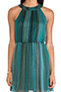 Image 5 of Alice + Olivia Jae Closed Back Dress in Teal