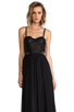 Image 1 of Alice + Olivia Elis Leather Structured Bodice Dress in Black