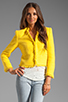 Image 2 of Alice + Olivia Princeton Open Front Box Jacket in Light Yellow