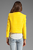 Image 3 of Alice + Olivia Princeton Open Front Box Jacket in Light Yellow