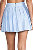 Image 6 of Alice + Olivia Box Pleat Leather Skirt in Sky Blue