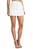 Image 2 of Alice + Olivia Ruba Crochet Beaded Ruffle Skirt in Off White