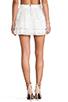 Image 3 of Alice + Olivia Ruba Crochet Beaded Ruffle Skirt in Off White