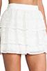 Image 5 of Alice + Olivia Ruba Crochet Beaded Ruffle Skirt in Off White