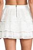 Image 6 of Alice + Olivia Ruba Crochet Beaded Ruffle Skirt in Off White