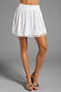 Image 1 of Alice + Olivia Rei Box Pleat Skirt in White