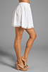 Image 2 of Alice + Olivia Rei Box Pleat Skirt in White