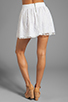 Image 3 of Alice + Olivia Rei Box Pleat Skirt in White
