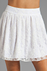 Image 4 of Alice + Olivia Rei Box Pleat Skirt in White