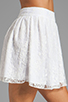 Image 5 of Alice + Olivia Rei Box Pleat Skirt in White