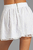 Image 6 of Alice + Olivia Rei Box Pleat Skirt in White