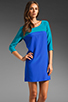 Image 1 of Amanda Uprichard Jordan Dress in Teal/Royal