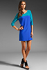 Image 2 of Amanda Uprichard Jordan Dress in Teal/Royal