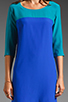 Image 3 of Amanda Uprichard Jordan Dress in Teal/Royal