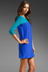 Image 4 of Amanda Uprichard Jordan Dress in Teal/Royal