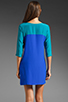 Image 5 of Amanda Uprichard Jordan Dress in Teal/Royal