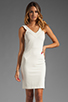 Image 1 of Amanda Uprichard V Neck Ponte Dress in Cream