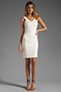 Image 2 of Amanda Uprichard V Neck Ponte Dress in Cream