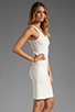 Image 3 of Amanda Uprichard V Neck Ponte Dress in Cream