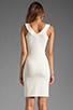 Image 4 of Amanda Uprichard V Neck Ponte Dress in Cream