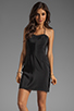 Image 1 of Amanda Uprichard Looped Mini Dress in Black