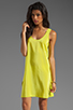 Image 1 of Amanda Uprichard Tank Dress in Lime