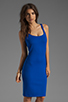Image 1 of Amanda Uprichard Ponte Mini Tank Dress in Royal