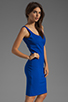 Image 3 of Amanda Uprichard Ponte Mini Tank Dress in Royal