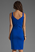 Image 4 of Amanda Uprichard Ponte Mini Tank Dress in Royal