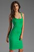 Image 1 of Amanda Uprichard Ponte Mini Tank Dress in Green