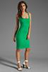 Image 2 of Amanda Uprichard Ponte Mini Tank Dress in Green